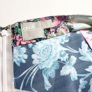 ASOS Shorts - ASOS Mixed Floral High Waisted Shorts Sz 18